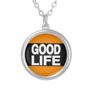 Good Life Long Orange Custom Necklace
