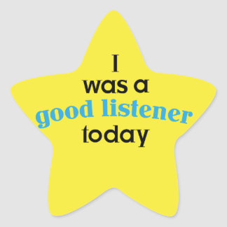 Good Listener Teacher Sticker