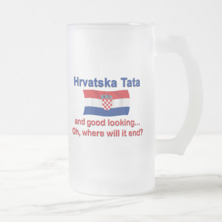 Good Lkg Croatian Tata (Dad) Frosted Glass Mug