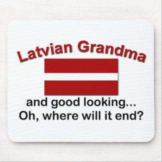Good Lkg Latvian Grandma Mouse Pad