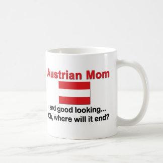 Good Looking Austrian Mom Basic White Mug