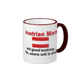 Good Looking Austrian Mom Ringer Mug