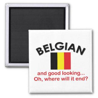 Good Looking Belgian Square Magnet
