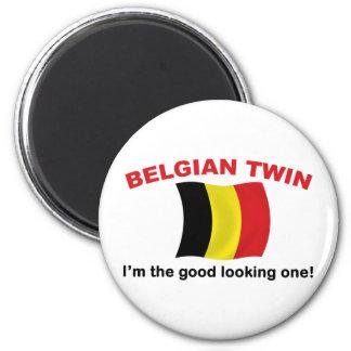 Good Looking Belgian Twin 6 Cm Round Magnet