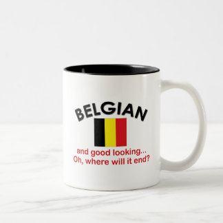Good Looking Belgian Two-Tone Coffee Mug
