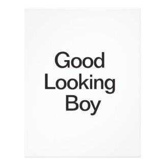 Good Looking Boy Custom Flyer