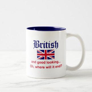 Good Looking British Two-Tone Mug