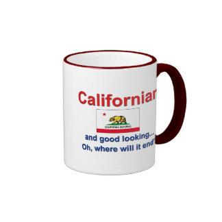 Good Looking Californian Ringer Mug