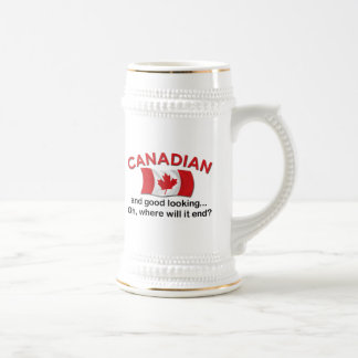 Good Looking Canadian Beer Stein