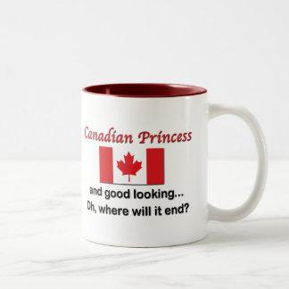 Good Looking Canadian Princess Two-Tone Mug