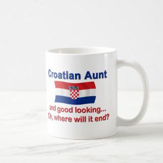 Good Looking Croatian Aunt Basic White Mug