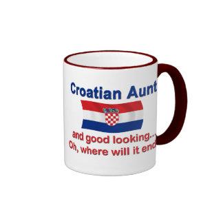 Good Looking Croatian Aunt Ringer Mug