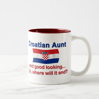 Good Looking Croatian Aunt Two-Tone Mug