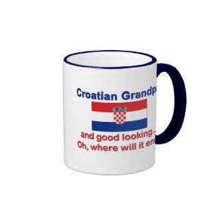 Good Looking Croatian Grandpa Ringer Mug