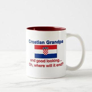 Good Looking Croatian Grandpa Two-Tone Mug