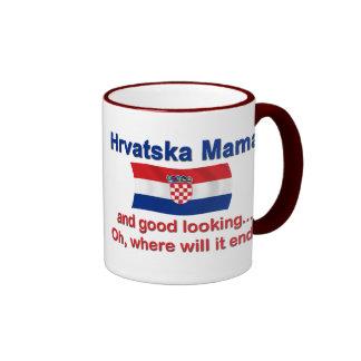 Good Looking Croatian Mama Ringer Mug