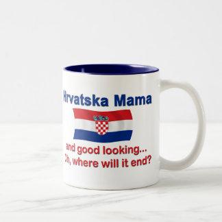 Good Looking Croatian Mama Two-Tone Mug
