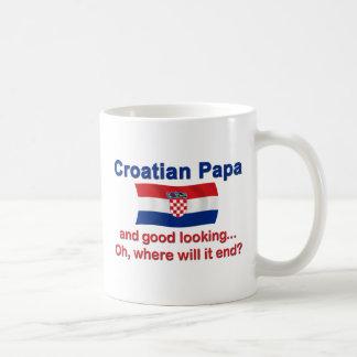 Good Looking Croatian Papa Basic White Mug