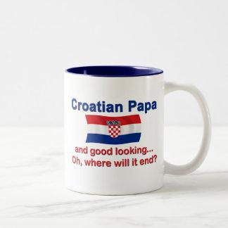 Good Looking Croatian Papa Two-Tone Mug