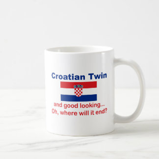 Good Looking Croatian Twin Basic White Mug