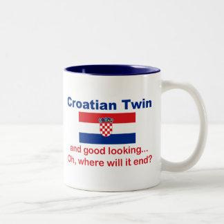 Good Looking Croatian Twin Two-Tone Mug