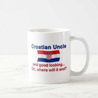 Good Looking Croatian Uncle Basic White Mug