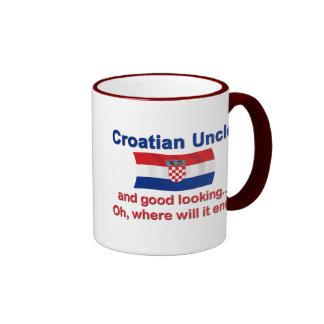 Good Looking Croatian Uncle Ringer Mug