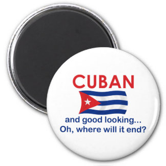 Good Looking Cuban 6 Cm Round Magnet