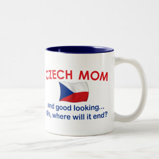 Good Looking Czech Mom Two-Tone Coffee Mug
