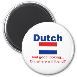 Good Looking Dutch 6 Cm Round Magnet