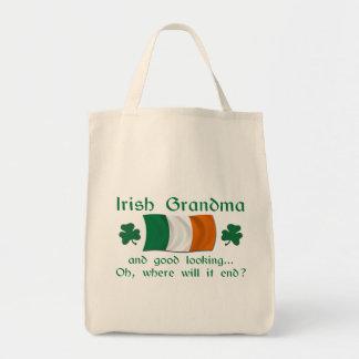 Good Looking Irish Grandma Grocery Tote Bag