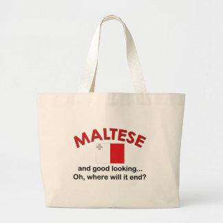 Good Looking Maltese Jumbo Tote Bag