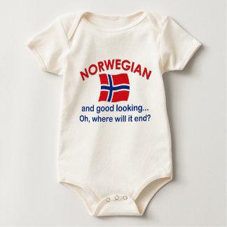 Good Looking Norwegian Baby Bodysuit