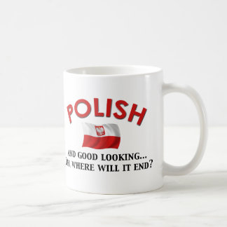 Good Looking Polish Classic White Coffee Mug