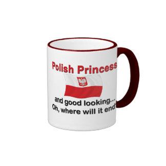 Good Looking Polish Princess Ringer Coffee Mug