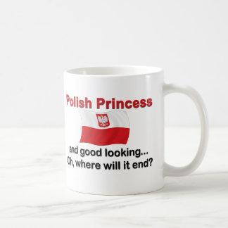 Good Looking Polish Princess Basic White Mug