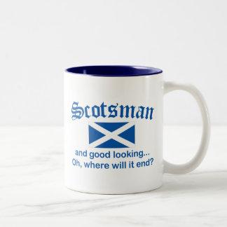 Good Looking Scotsman Two-Tone Mug