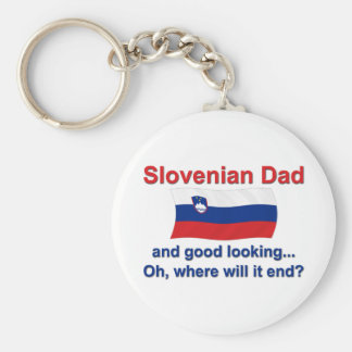 Good Looking Slovenian Dad Key Ring