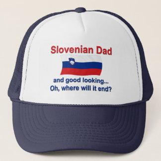 Good Looking Slovenian Dad Trucker Hat