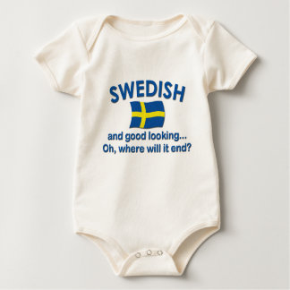 Good Looking Swedish... Baby Bodysuit