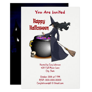 Good Looking Witch and the Cauldron Invitation