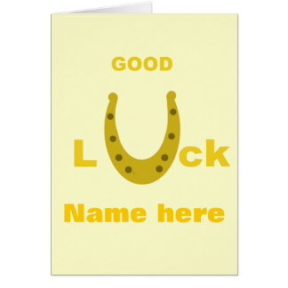 Good Luck add name front card