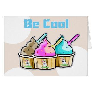 good luck,be cool ice cream card