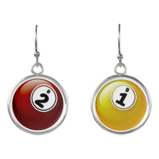 Good Luck BINGO Balls Earrings