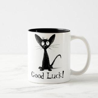 Good Luck Black Cat Mug Coffee Mugs