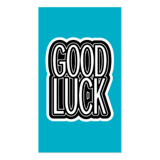 Good Luck - Blue Double-Sided Standard Business Cards (Pack Of 100)