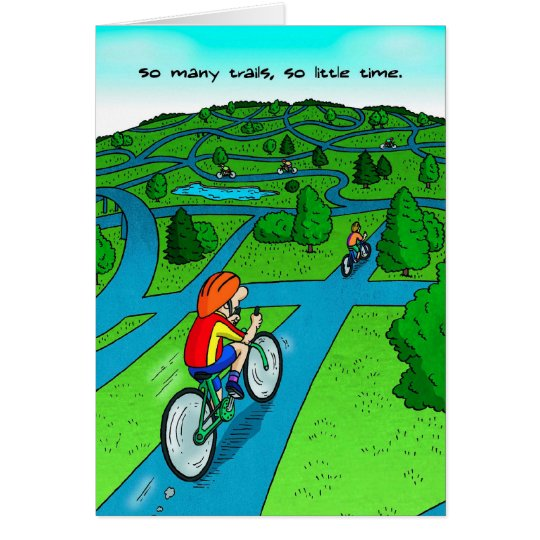 Good Luck Card for Cyclist - Cycling Trail