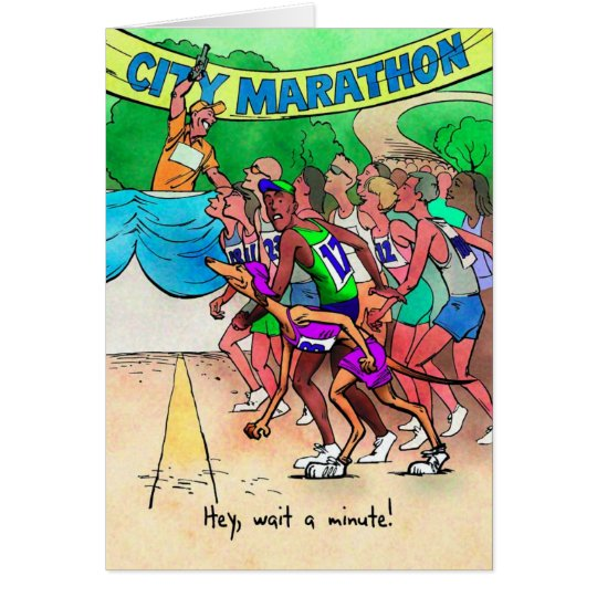 Good Luck Card for Marathoner - Greyhound Runner