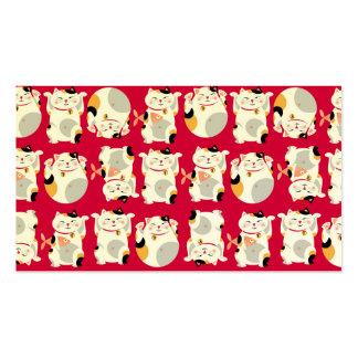 Good luck cat,chinese,feng shui,Maneki Neko,patter Pack Of Standard Business Cards