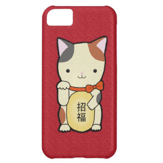 Good Luck Cat Lucy Cat Phone Case by MiKa Art iPhone 5C Case